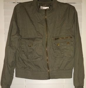 Cropped lightly lined lightweight jacket